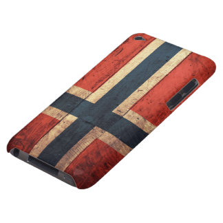 Wooden Norway Flag Barely There iPod Covers