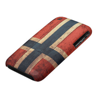Wooden Norway Flag iPhone 3 Case