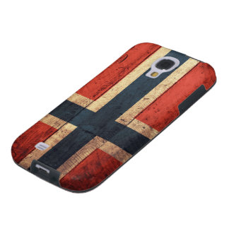 Wooden Norway Flag Galaxy S4 Case