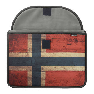 Wooden Norway Flag Sleeve For MacBooks