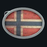 "Wooden Norway Flag Oval Belt Buckle<br><div class=""desc"">Norway Flag; Norwegian; Norge; norske;</div>"
