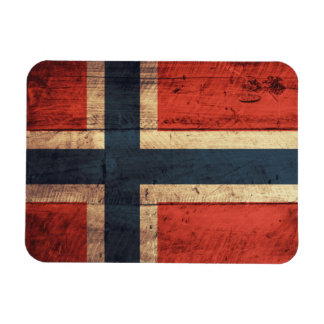 Wooden Norway Flag Flexible Magnets