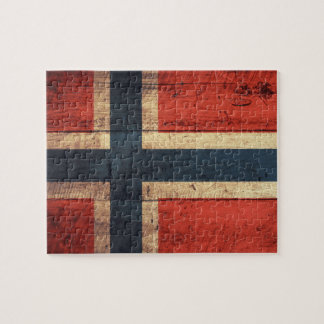 Wooden Norway Flag Puzzles