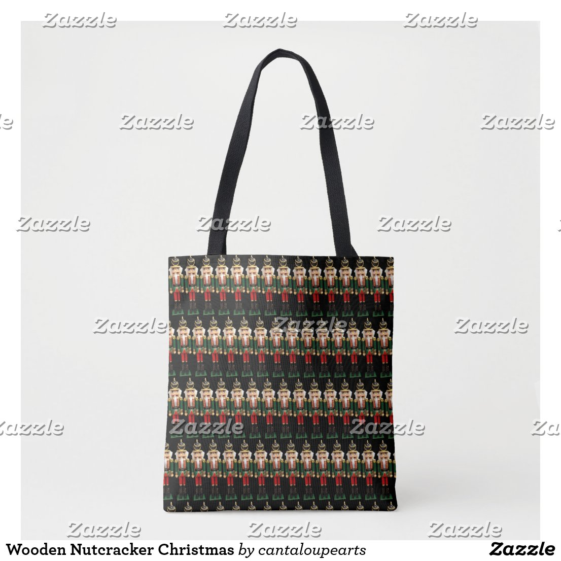 Wooden Nutcracker Christmas Tote Bag