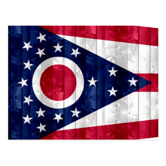 Wooden Ohioan Flag Postcard