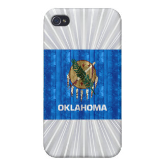 Wooden Oklahoman Flag Case For iPhone 4