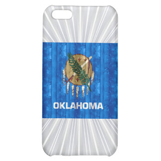 Wooden Oklahoman Flag Cover For iPhone 5C