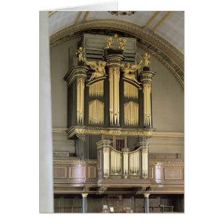 Wooden organ case, c.1685-6 card