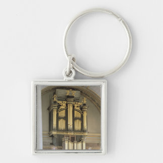 Wooden organ case, c.1685-6 Silver-Colored square keychain