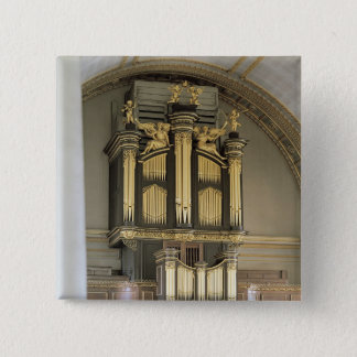 Wooden organ case, c.1685-6 pinback button