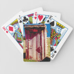 Wooden Outhouse Bicycle Playing Cards