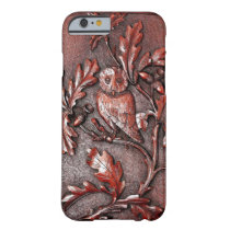 wooden owl iphone barely there iPhone 6 case