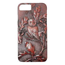 wooden owl iphone iPhone 7 case