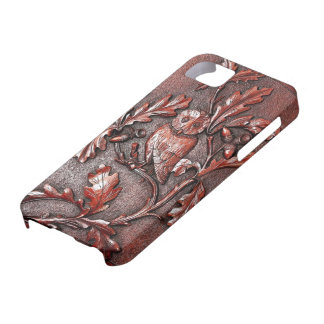 wooden owl iphone iPhone SE/5/5s case