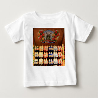 Wooden painted clogs, Holland 2 Baby T-Shirt