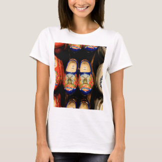 Wooden painted clogs, Holland T-Shirt