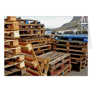 Wooden Pallets on the Dock Card