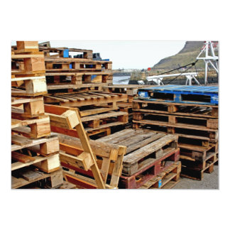 Wooden Pallets on the Dock Invitation