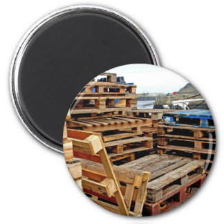Wooden Pallets on the Dock Magnet