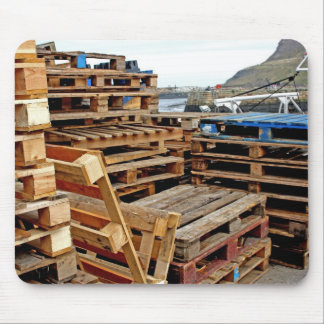 Wooden Pallets on the Dock Mouse Pad