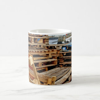 Wooden Pallets on the Dock Mug