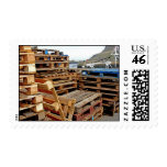 Wooden Pallets on the Dock Postage