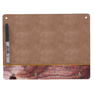 Wooden Panel Dry Erase Board With Keychain Holder