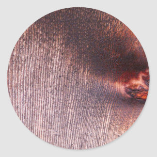 Wooden Panel Classic Round Sticker