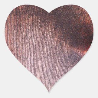Wooden Panel Heart Sticker