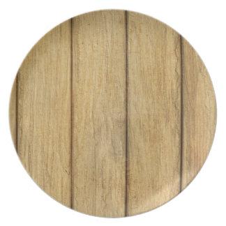 Wooden Panel Texture Dinner Plate