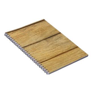 Wooden Panel Texture Spiral Notebook
