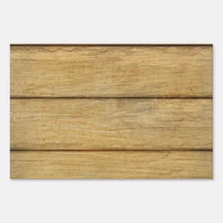 Wooden Panel Texture Yard Signs
