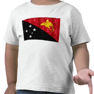 Wooden Papua New Guinean Flag Tee Shirt
