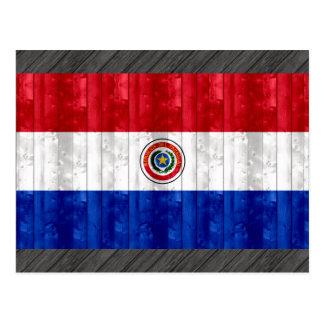 Wooden Paraguayan Flag Postcard