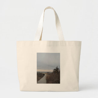 Wooden Path Large Tote Bag