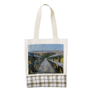 Wooden path zazzle HEART tote bag