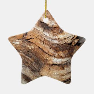 Wooden Pattern Ceramic Ornament