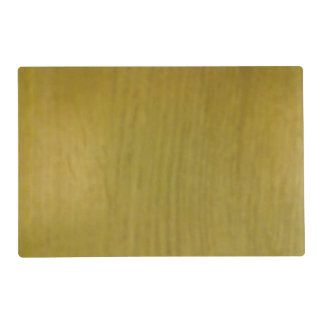 Wooden pattern laminated placemat