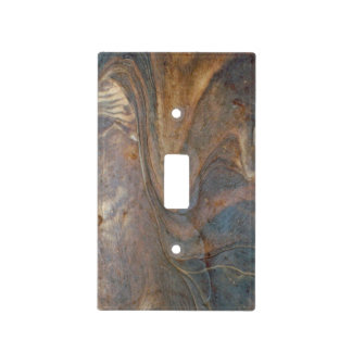 Wooden Pattern Photograph Light Switch Cover