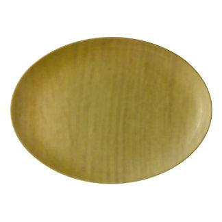 Wooden pattern porcelain serving platter