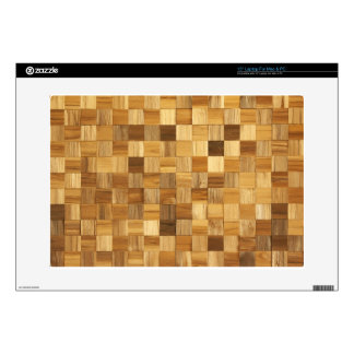 Wooden pattern decal for laptop