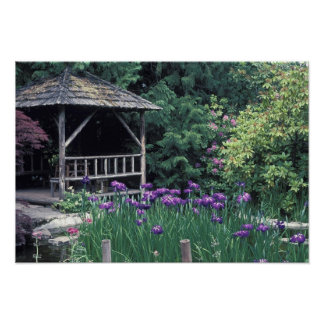Wooden pavilion in the Sunken Garden in Poster