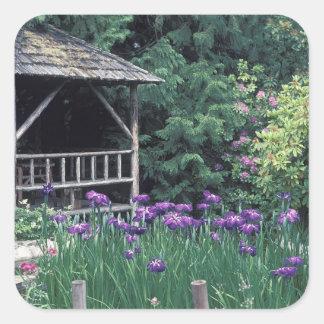 Wooden pavilion in the Sunken Garden in Square Sticker