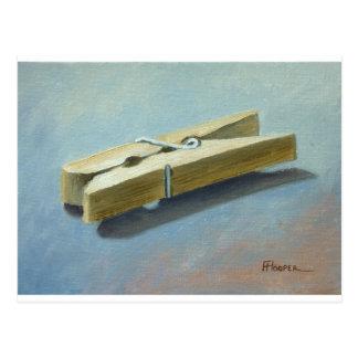 Wooden peg postcard