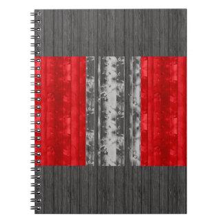 Wooden Peruvian Flag Notebook