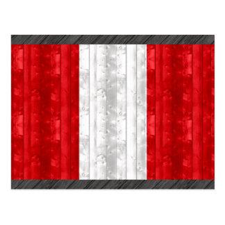Wooden Peruvian Flag Postcard