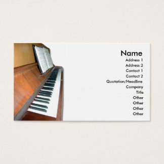 Wooden Piano Business Card