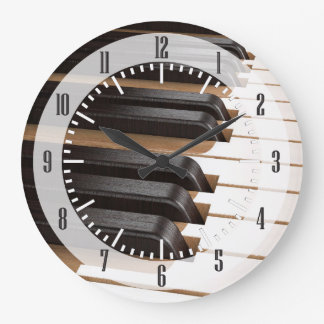 Wooden Piano Keys 2 Wall Clock