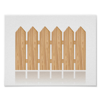 Wooden Picket Fence Poster