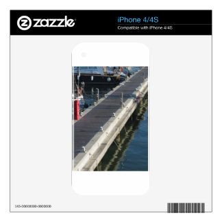 Wooden pier for boats skins for the iPhone 4